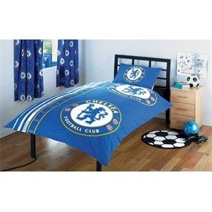 Chelsea FC Stripe Single Duvet Cover