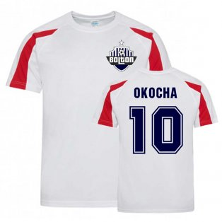 Jay Jay Okocha Bolton Sports Training Jersey (White)