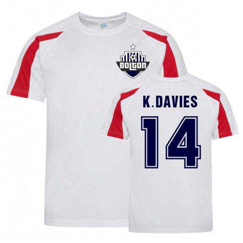 Kevin Davies Bolton Sports Training Jersey (White)