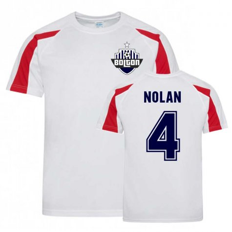 Kevin Nolan Bolton Sports Training Jersey (White)