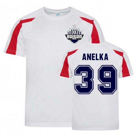 Nicholas Anelka Bolton Sports Training Jersey (White)