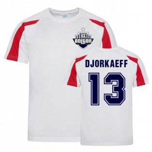 Youri Djorkaeff Bolton Sports Training Jersey (White)