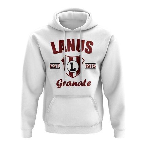 Lanus Established Football Hoody (White)