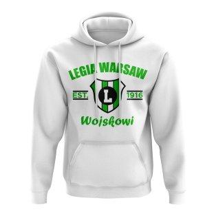 Legia Warsaw Established Football Hoody (White)