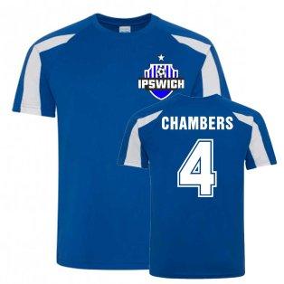 Luke Chambers Ipswich Sports Training Jersey (Blue)