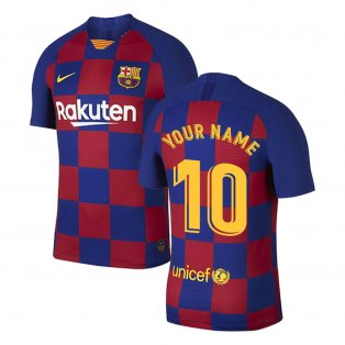 2019-2020 Barcelona Home Vapor Match Nike Shirt (Kids) (Your Name)