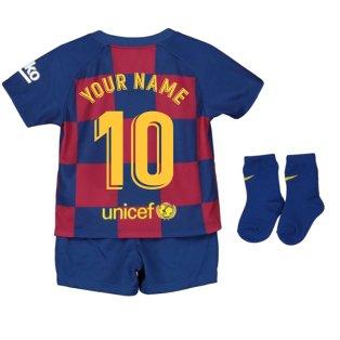 2019-2020 Barcelona Home Nike Baby Kit (Your Name)