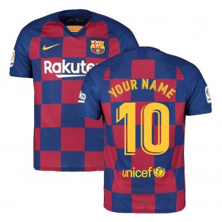 2019-2020 Barcelona Home Nike Football Shirt (Your Name)