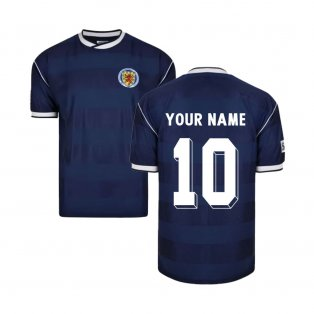Score Draw Scotland 1986 Retro Football Shirt (Your Name)