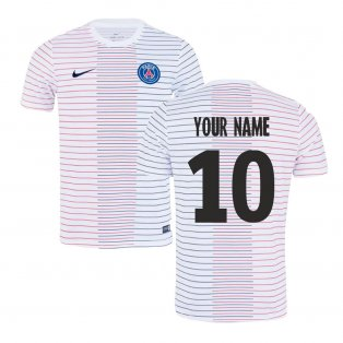 2019-2020 PSG Nike Pre-Match Training Shirt (White) - Kids (Your Name)