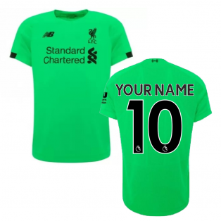 2019-2020 Liverpool Away Short Sleeve Goalkeeper Shirt (Green) (Your Name)