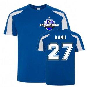 Nwankwo Kanu Portsmouth Sports Training Jersey (Blue)