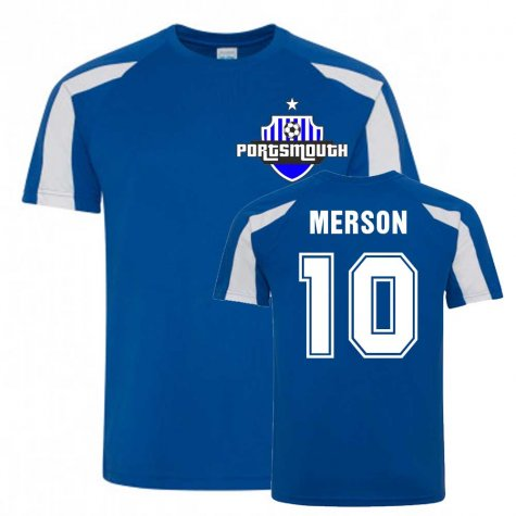 Paul Merson Portsmouth Sports Training Jersey (Blue)