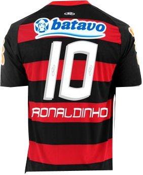 2010-11 Flamengo Home Shirt (Ronaldinho 10)