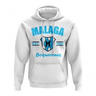 Malaga Established Football Hoody (White)