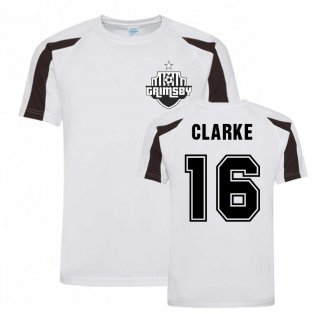 Billy Clarke Grimsby Sports Training Jersey (Black)