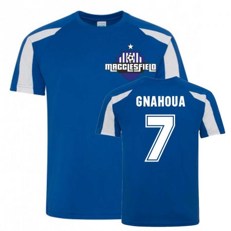 Arthur Gnahoua Macclesfield Sports Training Jersey (Blue)
