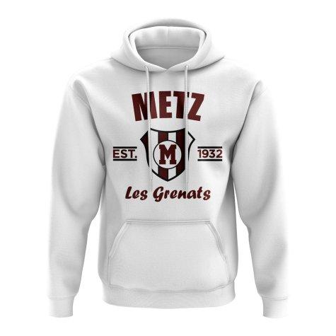 Metz Established Football Hoody (White)