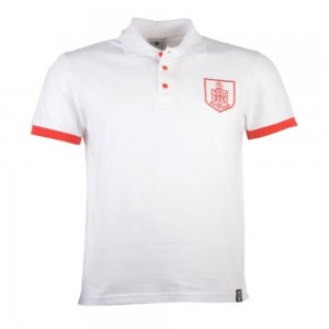 Bournemouth Retro White Polo Shirt