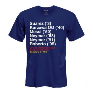 Barcelona 6-1 PSG T-Shirt (Navy) - kids