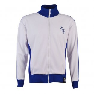 Everton Retro Track Top (White)