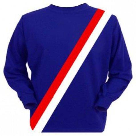 Manchester City 1970s Retro Football Shirt (Blue)