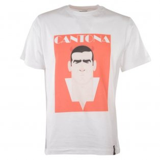 Manchester United Retro Cantona T-Shirt (White)