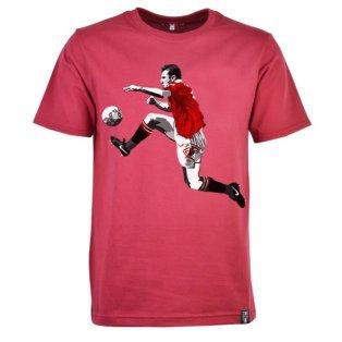 Manchester United Retro Cantona T-Shirt (Maroon)