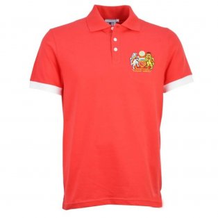Manchester United Retro Red Polo Shirt