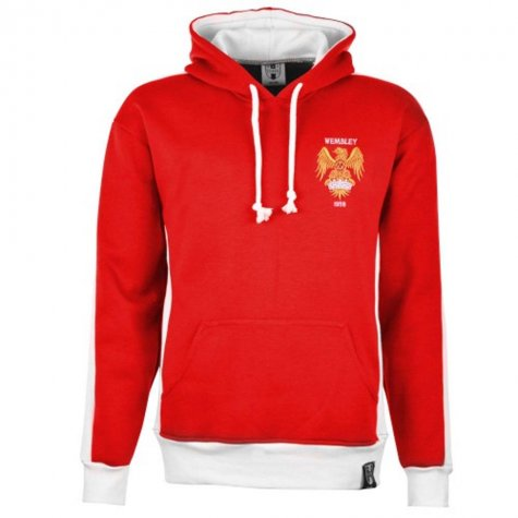 Manchester United 1970s Style Retro Hoodie