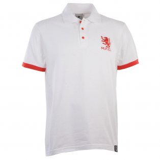Middlesbrough Retro White Polo Shirt