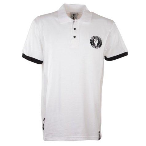Swansea City Number 7 White Retro Polo Shirt
