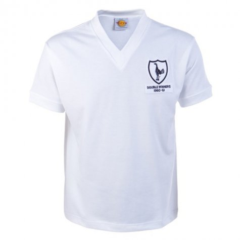Tottenham 1961 Double Winners Retro Football Shirt