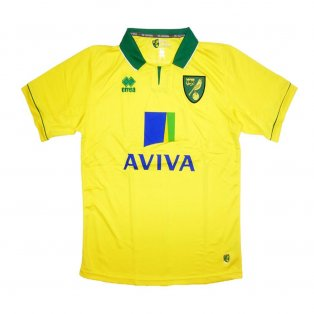 2012-2013 Norwich City Errea Home Football Shirt