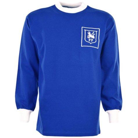 Preston North End 60's Away Royal Retro Football Shirt