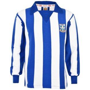 Sheffield Wednesday 1970s Stripe Retro Football Shirt
