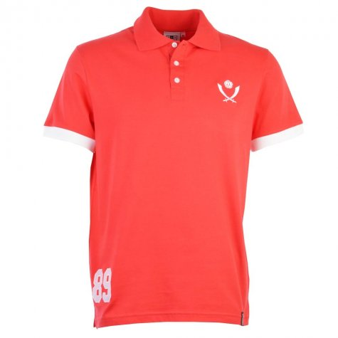 Sheffield United Number 89 Red Polo Shirt
