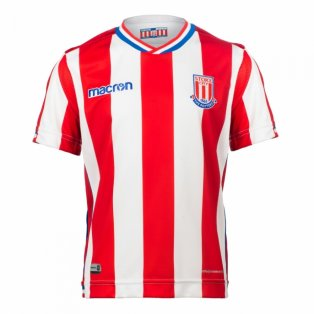 2017-2018 Stoke City Macron Home Shirt (Kids)