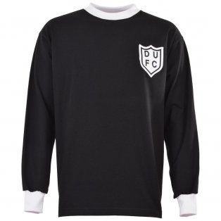 Dundee United 1960s Black Retro Football Shirt