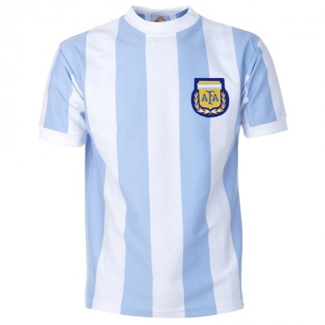 Argentina 1986 World Cup Maradona 10 Retro Football Shirt