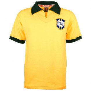 Brazil 1958 World Cup Retro Football Shirt
