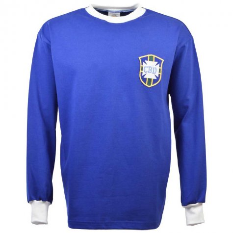 Brazil 1966 World Cup Retro Football Shirt