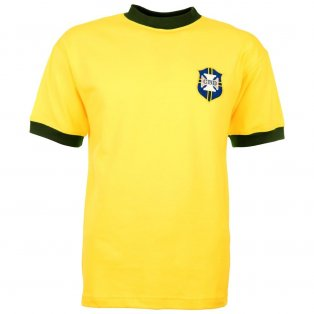 Brazil 1970 World Cup Retro Football Shirt