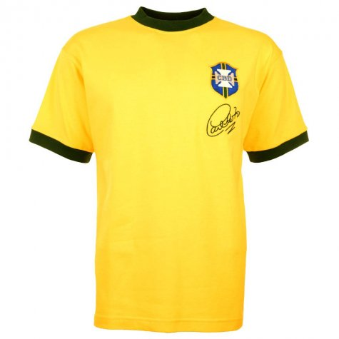 Brazil 1970 World Cup Carlos Alberto Retro Football Shirt