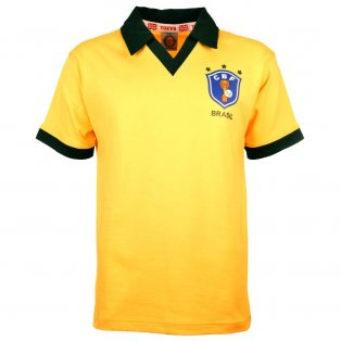 Brazil 1986 World Cup Retro Football Shirt
