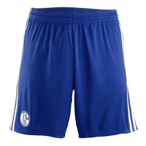 2017-2018 Schalke Adidas Away Shorts (Blue) - Kids