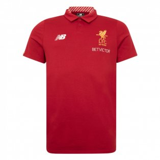 2017-2018 Liverpool Media Motion Polo Shirt (Red)