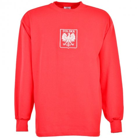 Poland 1970s Red Retro Football Shirt