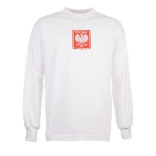 Poland 1970s White Retro Football Shirt