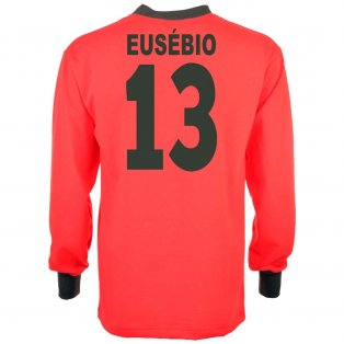 Portugal 1966 World Cup Eusebio 13 Retro Football Shirt